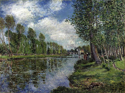 Alfred Sisley Painting - Banks Of The Loing River by Alfred Sisley