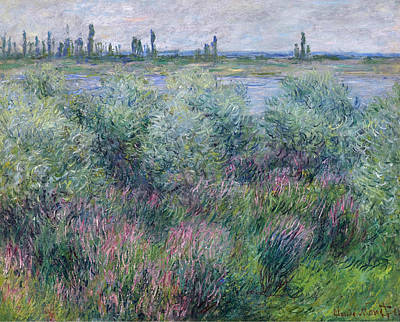 Vetheuil Painting - Banks Of The Seine At Vetheuil by Claude Monet
