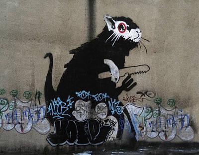 Banksy Lockpick Rat  Print by A Rey