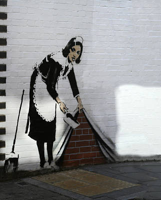 London Photograph - Banksy Maid by A Rey