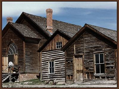 Montana Digital Art - Bannack Buildings by Kae Cheatham