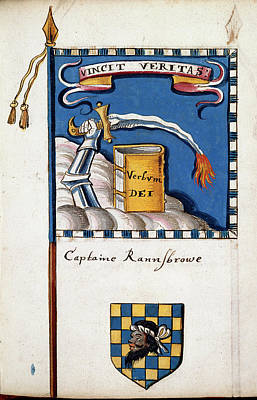 Adornment Photograph - Banner Of Captain Rannsbrowe by British Library
