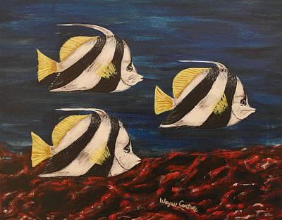 Bannerfish Print by Wayne Cantrell