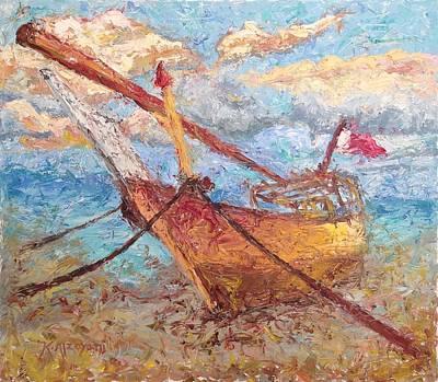 Painting - Banoush II by Khalid Alzayani