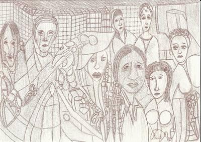 Banquete Print by Marina De Bonis