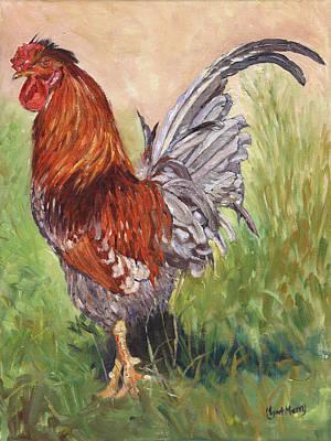 Bantam Cockerel Print by Margaret Merry