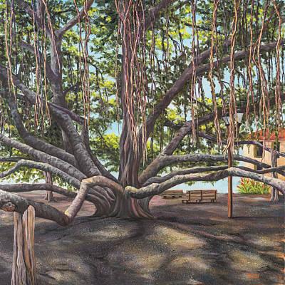 Torch Painting - Banyan Tree Lahaina Maui by Darice Machel McGuire