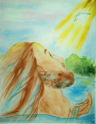 Baptism Of Christ Original by Melanie Palmer