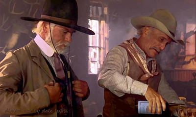 Bar Scene From Lonesome Dove Print by Dale Lewis