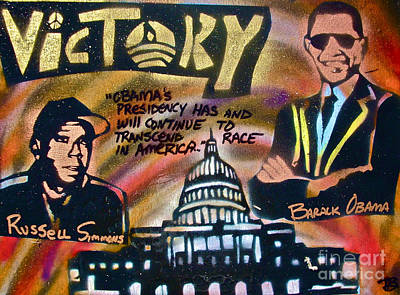 Barack And Russell Simmons Original by Tony B Conscious