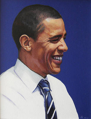 Barack Obama Painting - Barack Obama 2008 by James Kelly