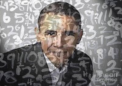 Barack Obama Print by Adeart