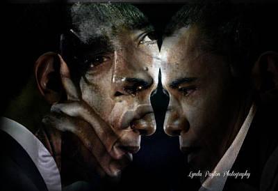 Barack Obama -  Print by Lynda Payton