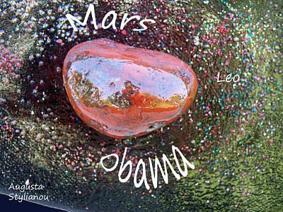 Obama Painting - Barack Obama Mars by Augusta Stylianou