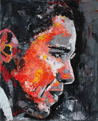 Oil Portrait Painting - Barack Obama by Richard Day