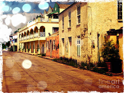 Manipulation Photograph - Barbados Street Scene by Sophie Vigneault