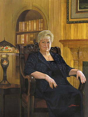 Portraits Painting - Barbara Smith by Harold Shull