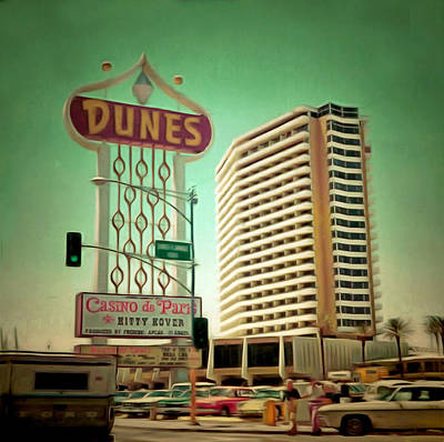 The Dunes Hotel Las Vegas Print by Floyd Snyder