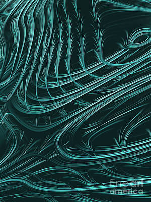 Abstract Shapes Digital Art - Barbed by John Edwards