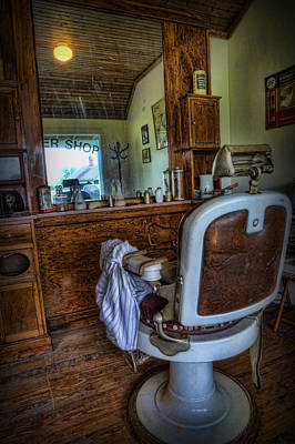Custom Mirror Photograph - Barber - Time For A Cut  by Lee Dos Santos