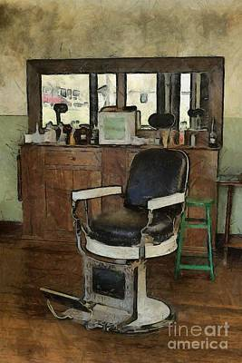 Barber - Barber Shop Print by Liane Wright