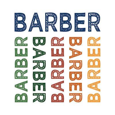 Barber Cute Colorful Print by Flo Karp