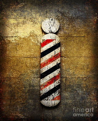 Red White And Blue Mixed Media - Barber Pole by Andee Design