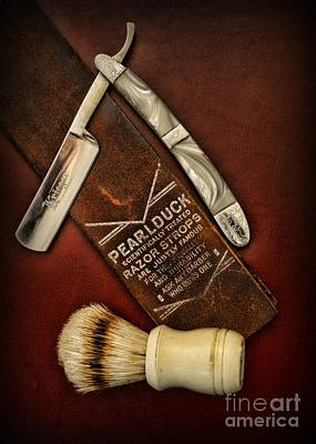 Barber - Tools For A Close Shave  Print by Paul Ward