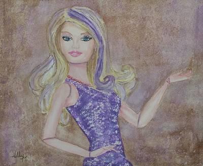 Barbie Painting - Barbie ... Purple by Kelly Mills