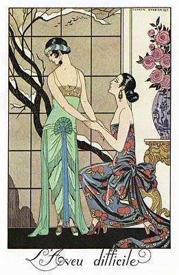 Barbier Confession, 1923 Print by Granger