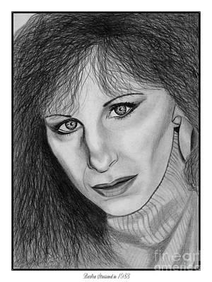 Barbra Streisand In 1983 Print by J McCombie