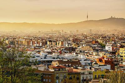Barcelona Photograph - Barcelona In The Mist by Catalin Tibuleac