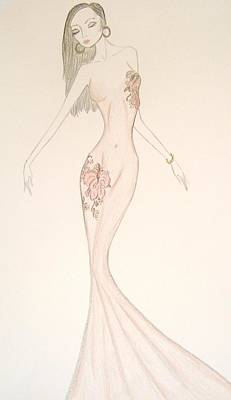 Evening Gown Mixed Media - Bare Essence by Christine Corretti