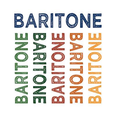 Baritone Cute Colorful Print by Flo Karp