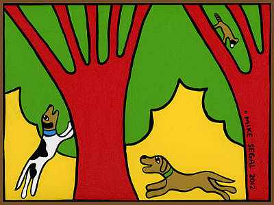 Barking Painting - Barking Up The Wrong Tree by Mike Segal