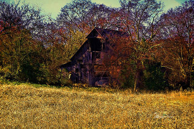 Barn And Diamond Reo-featured In Barns Big And Small Group Print by EricaMaxine  Price