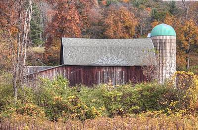 Roaming Elk Photograph - Barn And Silo by Kathy Wesserling