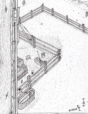 Barn Door Print by Clark Letellier