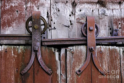 Joseph Duba Photograph - Barn Door Hardware 2008 by Joseph Duba