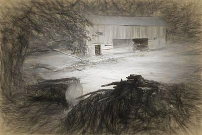 Barn Drawn Print by Alice Gipson