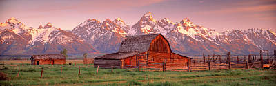Barn Grand Teton National Park Wy Usa Print by Panoramic Images