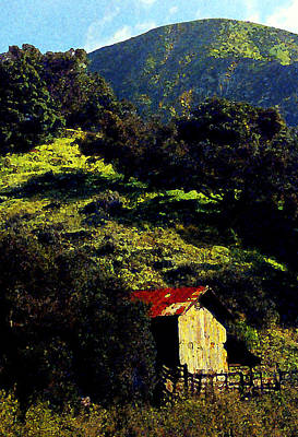 Barn In Grimes Canyon Print by Ron Regalado