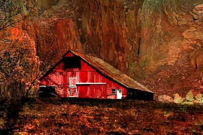 Ericamaxine Photograph - Barn In The Canyon by EricaMaxine  Price