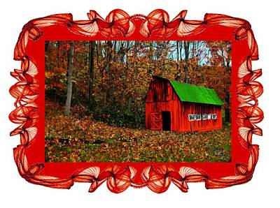 Barn Painting - Barn In The Fall by Bruce Nutting