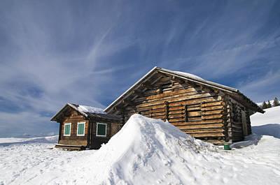 Barn In Winter Print by Matthias Hauser