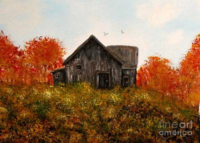 Barn Old Rusted And Deserted Print by Gail Matthews