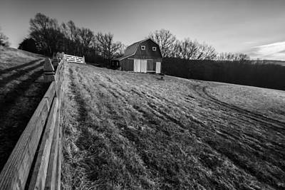 Barn On A Hill Print by Sven Brogren