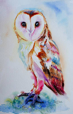 Visual Creations Painting - Barn Owl by Isabel Salvador