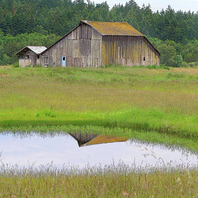Barn Reflection Print by Art Block Collections