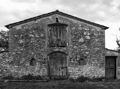 Barn Sienna Original by Hugh Smith